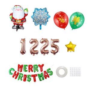 vendita all'ingrosso palloncini di stagnola di Natale Merry Christmas Lettere palloncini gonfiabili Babbo Natale Balloon decorazioni natalizie