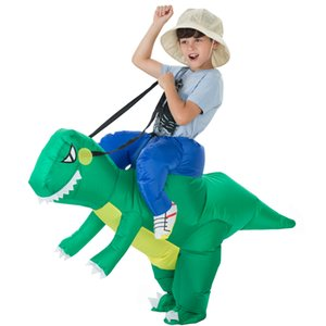 Purim Halloween party costume Kids Gonfiabile dinosauro Costume Unicorno costumi Ride on Dinosaur Costume per bambini 120com-140cm