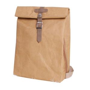Моющийся Kraft Paper Женский рюкзак Женщины мешок школы высокого качества Рюкзак легкий многоцелевой Бизнес Компьютерная сумка