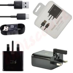 2 в 1 адаптивное быстрое зарядное устройство 1.2 M Type - C кабель UK Plug USB Home Wall Quick Travel Adapter Kit для Samsung s9 s9 plus