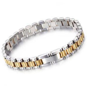 10mm / 15mm Lüks Hiphop Paslanmaz Çelik Biker Bilezik Erkekler Altın Gümüş Saati Tasarım Erkek Kadın Bileklik Bilezikler Takı Severler Için