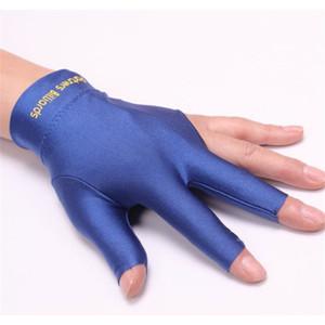 Nouveau gros - gants de billard 3 doigts gants Snooker Billard cue accessoires / Noir / Bleu / Rouge / Gris / main gauche