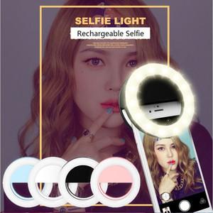Portable Selfie Rechargeable Portable Caméra Appareil Photo Téléphone Anneau Lumière Amélioration de la Photographie pour Iphone X 8 7 6 5 Samsung xiaomi