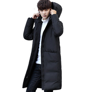add new  clothing jackets thick keep Wear outside long warm men down jacket high quality hooded down winter coat Male