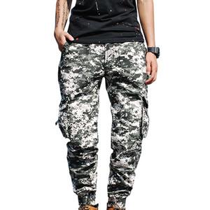 MISNIKI 2018 New Autumn Men Casual Multi bolsillos Pantalones Pantalones tácticos ejército pantalones largos rectos 29-38 CYG382