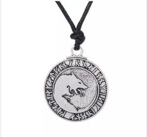 Письмо Подросток Волк Кулон Этнические Ожерелье Мужчины Подвески Норвежский Викинг Руны Амулет Ювелирные Изделия
