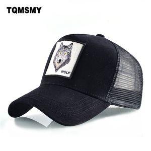 Tqmsmy الأزياء القطن قبعة بيسبول الرجال snapback القبعات للنساء الهيب هوب gorras العظام المطرزة الذئب قبعات سائق شاحنة القبعات TMDHL