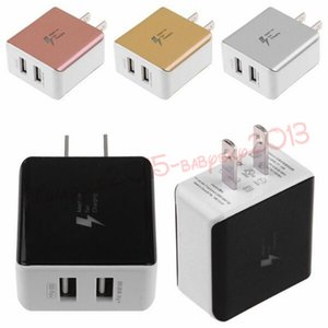 5V 2.1A di ricarica rapida porte Dual USB CA degli Stati Uniti alimentatore caricatore domestico della parete per l'iphone 5 6 7 8 per Samsung S7 S8 nota 8 htc android phone pc
