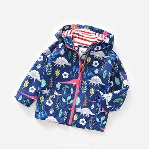 KEAIYOUHUO 2017 Осень Зима детские мальчики Куртка для мальчиков ветровка дети с капюшоном динозавры куртка дети верхняя одежда пальто одежда