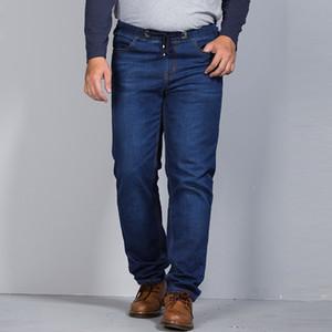 2018 New Brand Men Jeans Elastic Waist Denim Pants Men's Large Size S6XL 7XL High quality Casual Stretch Jeans For 130KG Wear