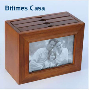 Bitimes Vintage Antique Wood Photo Frame 4 '* 6' Con Photo ALbum 15 * 10CM Combinazione di Photo Fram e Album Home Decoration