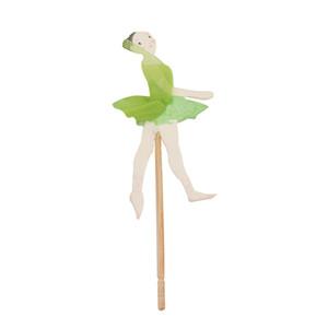 24 pcs Ballet Dancer girl Cupcake Topper Dos Desenhos Animados Decoração Do Bolo de Aniversário Dos Miúdos da festa de Aniversário do favor do bebê do chuveiro de bebê acessórios de cozimento