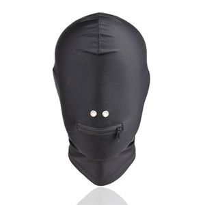 Fetish Bdsm Bondage Sex Hoods Flexible Head Mask Erotic Play Gear Slave Torture Trainer Adult Sex Toys for Women Black GN312400042