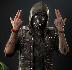Maschera di Halloween Mesh and Rivets Punk Fashion Cosplay Personality Cool Face Mask