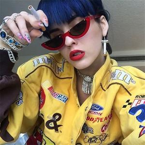 2018 legal cat eye sunglasses semi-aro moda cateye mulheres óculos de sol 10 cores barato por atacado eyewear