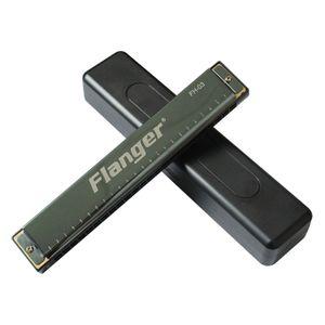 Flanger 24 Delik Tremolo Mızıka Kalınlaşma Paslanmaz Çelik Kapak Plaka Diyatonik Arp Pirinç Kamış ABS Reçine Frets FH-003