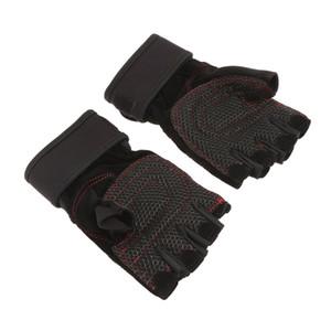 Вентилируемый вес подъема половину пальца перчатки Спорт фитнес инструмент