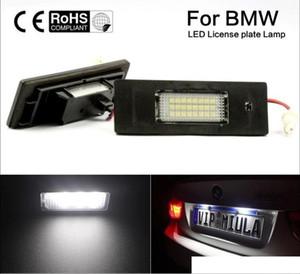 2 adet Yüksek Kalite Doğrudan Fit BMW 24-SMD LED Plaka Işıkları E63 E64 E81 E85 E87 650i M6 Z4 Hata Ücretsiz