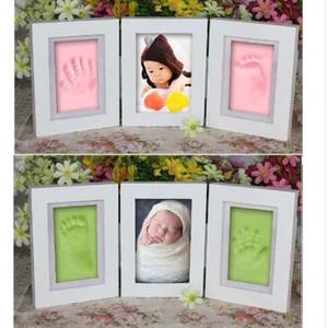 Baby Bilderrahmen Diy Footprint Handabdruck Impressum Cast Geschenkset Bild mit Soft Clay Abdeckung Neuheit Geschenk für Kind