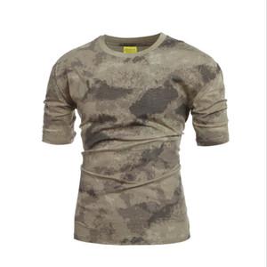 Nueva camiseta táctica de camuflaje militar para hombre, transpirable, de secado rápido, camiseta de combate del ejército de EE. UU.