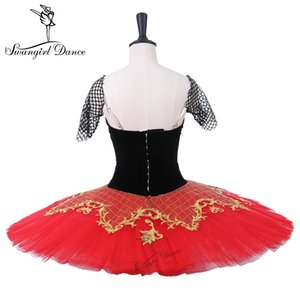 Don Chisciotte Performance Stgae Tutu Girls Black Red Professional Balletto classico Tutu Ballerina Paltter Tutus BT9214