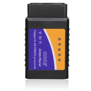 سوبر ميني ELM327 WIFI V1.5 OBD2 OBDII Code Reader ELM 327 Auto Diagnostic Scanner Tool ELM-327 لاسلكي لالروبوت ios الهاتف