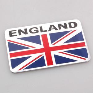 Bandeira Nacional Moda Car Styling Metal 3D Chrome liga de alumínio do emblema do emblema da etiqueta para a América Austrália França Inglaterra Itália