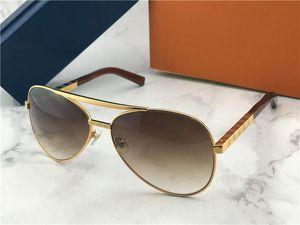 Yeni erkekler tasarımcı güneş gözlüğü tutum pilot güneş gözlüğü 0339 boy erkekler stil açık havada vintage klasik model UV400 lens ile kılıf