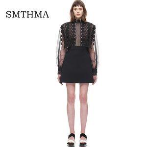 SMTHMA 2017 Summer Runway new arriva Black Lace Dress