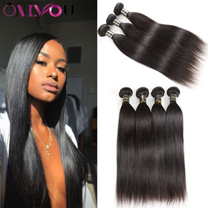 Onlyou Hair® Products 10a Grade Virgin hair Straight Human Hair Bundles 3 4 5 6 Pecs Unprocessed Straight Remy Human Hair Weaves Extensions