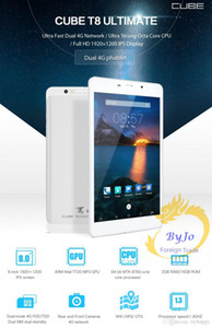 Date Cube T8 Plus Dual Phone 4G Tablet PC Octa Core 2 Go de RAM 16 Go ROM 8 pouces Android 5.1 MTK8783 1920 * 1200 IPS écran GPS
