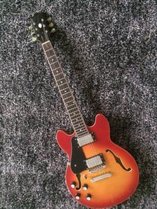 Spedizione gratuita! Nuovo arrivo a mano mancino E-S 339 Jazz chitarra elettrica in Cherry Burst 160401