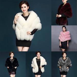 Inverno Faux Fur Coat Bolero Scialle da sposa Donna caldo peloso pelliccia Cape Giacche Prom Wrap Shrug Donna Abrigo Mujer