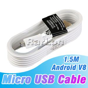 1,5M Micro USB Cable de datos de carga Android cables del adaptador del cable de carga para Samsung Línea Nota cable de teléfono de 4 celdas