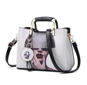 Mode Frauen Handtasche Mode Stil Weiblich Painted Schultertasche Messenger Bags Leder Casual Tote Abendtasche