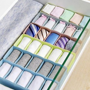 5 Cells Plastic Organizer Storage Box Tie Bra Socks Drawer Cosmetic Divider Tidy