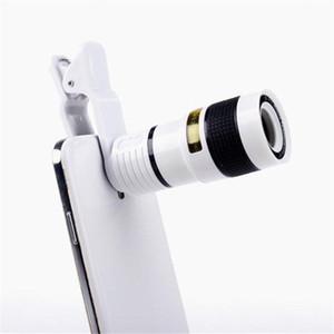 Lente de cámara de zoom de enfoque largo Lejos Ángulo de oscuridad de alta definición Lente de teléfono móvil óptico de Unniversal con ocho veces el espejo 9gf ff