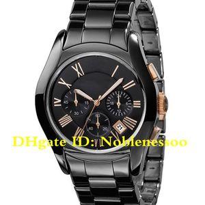 10 Style Luxury Women's AR1411 Ceramica Ladies Watch Black Chronograph Dial Ceramic Strap AR5920 AR5906 AR1443 AR1441 Ladies Women Watches