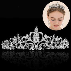 Cristalli di perline brillanti di alta qualità Corone di nozze Velo nuziale Tiara Corona Accessori per capelli Accessori per capelli Tiara nuziale per feste