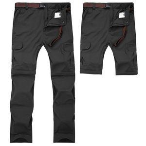 7XL hommes d'été à séchage rapide amovible pantalons pantalons respirants sports de plein air randonnée trekking shorts de pêche VA110