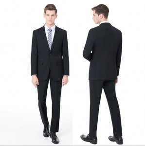 Schwarze Männer Hochzeitsanzüge Slim Fit Formal Wear Top-Männer Bräutigam Smoking Anzüge Business Men Wear (Jacket + Pants) Bräutigam ST0036