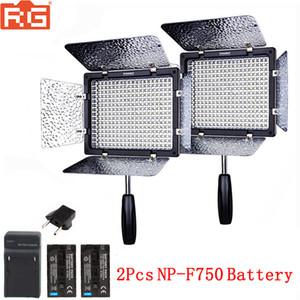 도매 YN300 III YN-300III 5500K 직업적인 LED 영상 빛 원격 제어 APP 원격 2Pcs NP-F750 건전지 + 충전기 장비를 가진 LED 영상 빛