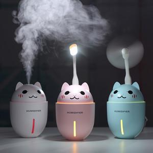 Umidificatori in stile Cute Pet Cats in 3 colori per Essentail Oil Diffuser 320ml Mist 10hrs Lasting