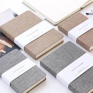 Atacado New Cloth Cover Hardcover Notepads com caderno de esboços de página em branco 128sheets cadernos de diário frete grátis