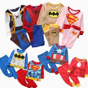Navidad pijamas renos 2 piezas de ropa navidad del bebé bebé ropa de hogar para los niños 100% bebé ropa de algodón 42 diseños dinasour