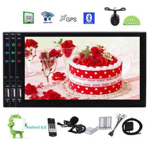 후방 카메라 + 자동차 스테레오 GPS 네비게이션 대시 더블 2 Din Autoradio 헤드 유닛 7 ''디스플레이 Apple Car Player Android Auto Bluetooth Micro