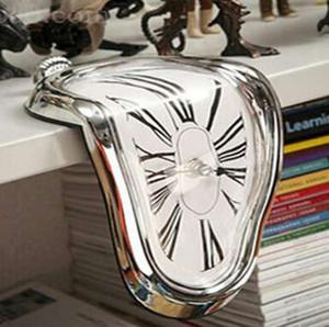 Fusion Surreal Novel Distorted Horloge murale Surréaliste Salvador Dali style Horloge murale incroyable Accueil Décoration cadeau
