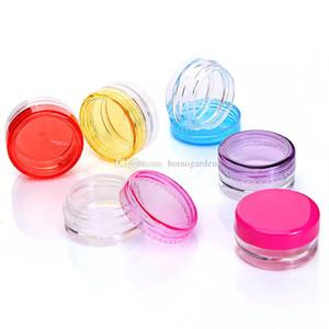 10-colores Contenedores de cera Caja de plástico de grado alimenticio Jar Fumar Accesorios