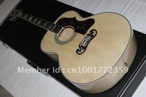 Wholesale New arrival Cream-colored SJ200 Acoustic Guitar free shipping
