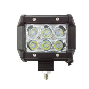 ecahayaku 2pcs LED DRL 18W 4'Inch Spot LED 작업 빛 12V 24V Offroad Lada Niva Toyota Audi Mazda BMW 안개 운전 램프